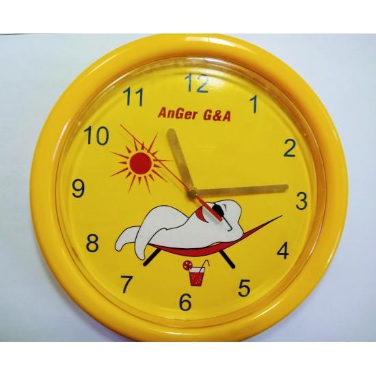 Часовник зъбче кръгъл жълт
